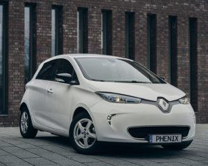 Phenix E-Auto Renault ZOE Weiß Modellansicht