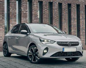 Phenix E-Auto Opel Silber Vorderansicht