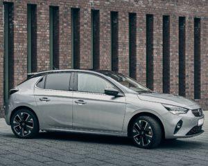 Phenix E-Auto Opel Silber Seitenansicht